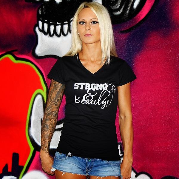 Beastmode Damen Shirt Strong&Beauty Vorderansicht