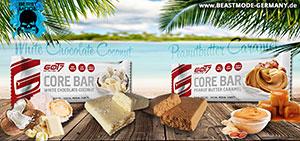 got7 neue Riegelgeschmäcker White Chocolate Coconut und Peanutbutter Caramel