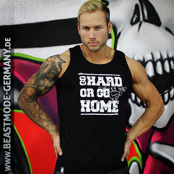 Beastmode Maenner TankTop Go Hard or Go Home Front