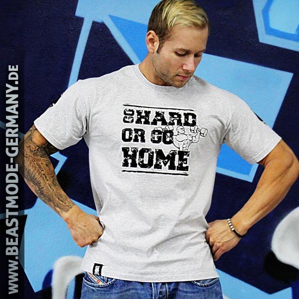 Beastmode Männer Shirt Go Hard or Go Home Grau Vorderansicht