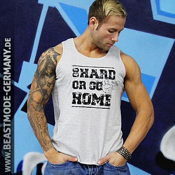 Beastmode Männer TankTop Go Hard or Go Home in der Farbe Grau Frontansicht
