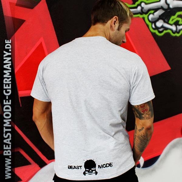 Beastmode Männer T-Shirt Beastmode Grau Rueckansicht