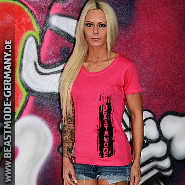 Beastmode Damen T-Shirt Beastmode Frontansicht Pink