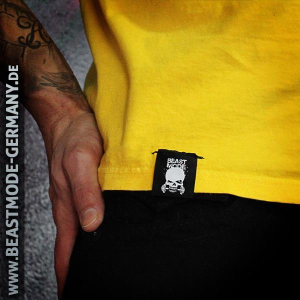 Beastmode Männer T-Shirt Beastmode Gelb Detailbild