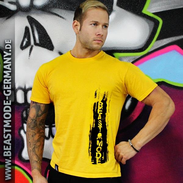 Beastmode Männer T-Shirt Beastmode Gelb Frontansicht