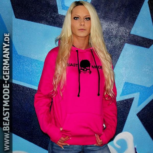 Beastmode Damen Fitness Hoodie Pink Vorne
