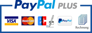 Zahlungsarten PayPal Plus Visa Mastercard Lastschrift PayPal Rechnung