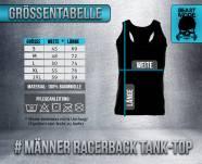 Beastmode Größentabelle Maenner Racerback TankTop