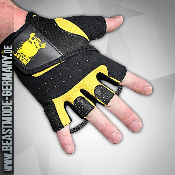 beastmode maenner-handschuhe-gelb