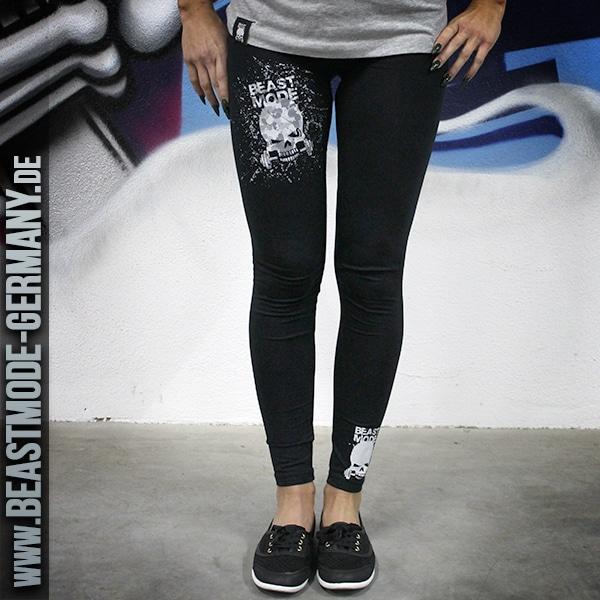 Beastmode Damen Leggings schwarz front