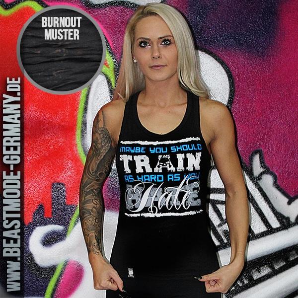 Beastmode Damen TankTop Hate as you train front