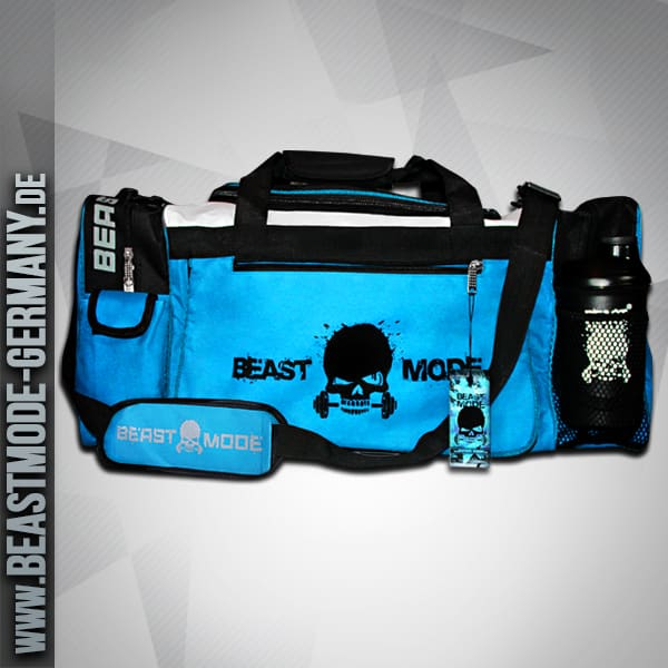 beastmode-gymbag-fitness-tasche-türkis-front