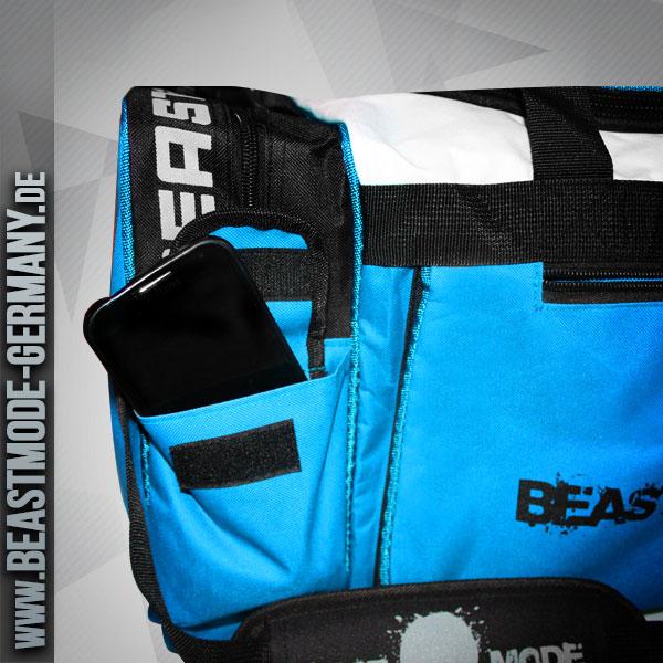 beastmode-gymbag-fitness-tasche-türkis-handy