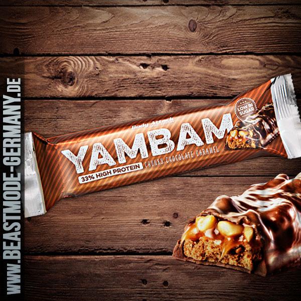 Beastmode-Bodyattack-Yam-Bam-Riegel-Chunks-Chocolate-Caramell