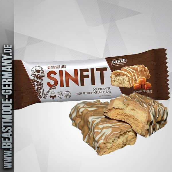 Sinister Labs Sinfit High Protein Bar Caramel Crunch 83g