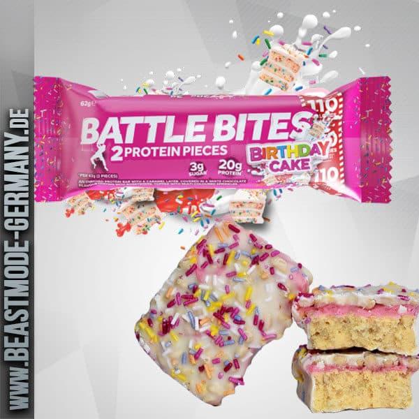 Beastmode Battle Oat Bites Protein Birthday Cake