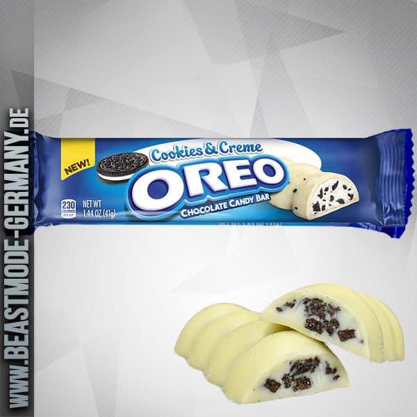 Oreo Cookies Creme White Chocolate Candy Bar 41g Mhd 15092019