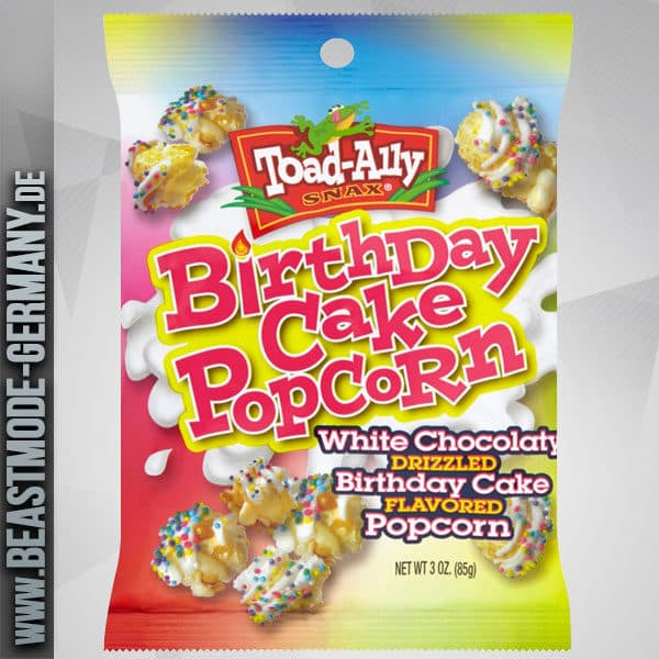 Beastmode Toad Alley Popcorn Birthday Cake White Chocolate