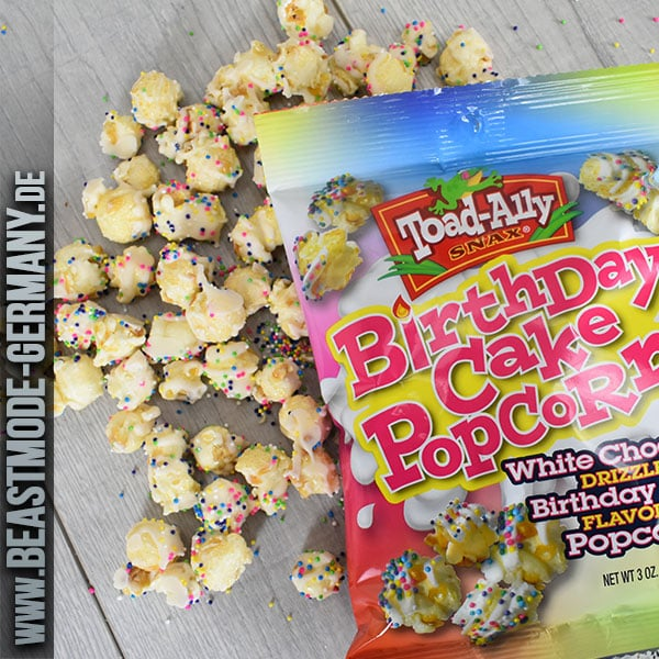 Toad Ally White Chocolate Drizzled Birthday Cake Popcorn 85g